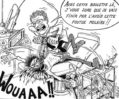Dentiste extraction de dent Dessin humoristique