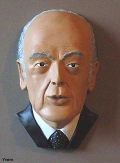 Caricature Giscard d'Estaing Buste Giscard d'Estaing