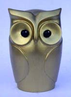 Statuette Hibou aspect Or
